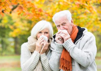 Krankes Seniorenpärchen