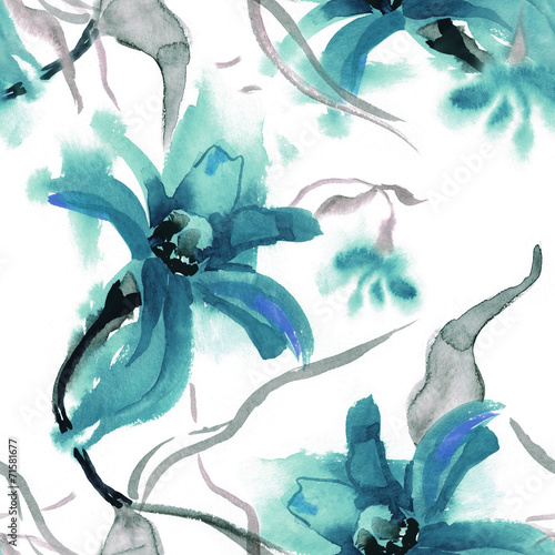 Floral Seamless Pattern © Marina Grau