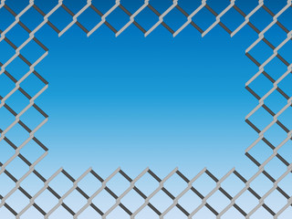 Hole on chain link fence