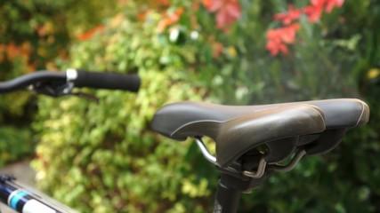 Fahrrad Sattel raucht