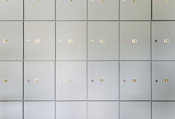 Lockers numbered