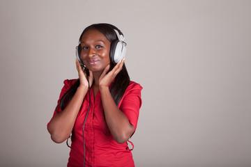 Woman with Retro Headphones