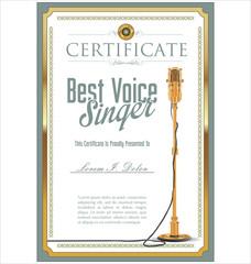 Karaoke party certificate
