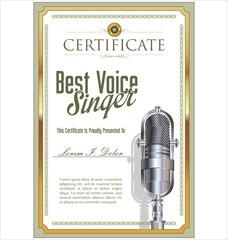Best singer certificate