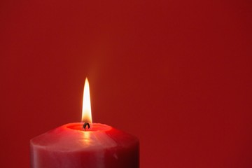 Red candle burning bright