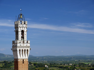Torre Palazzo Pubblico, Siena, Toscana, Italia