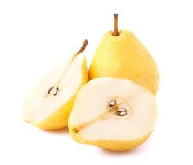 Yellow ripe pear
