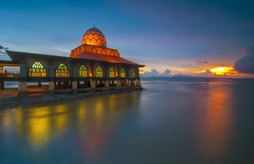 Sunset Scene at Al Hussain Mosque