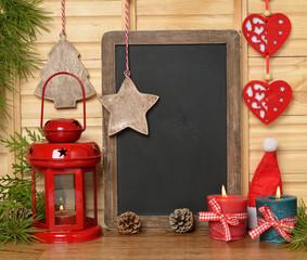 Christmas lantern and writing board