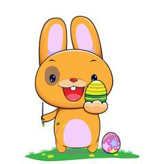 bunny easter egg painter
