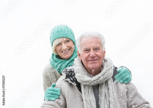 canvas print picture winter senior couple 1