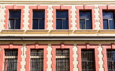 Old Windows with Bars on Windows