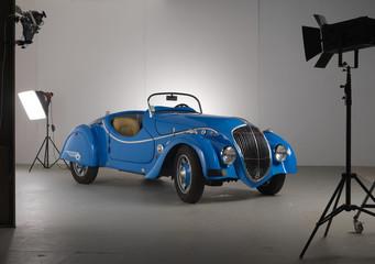 Set fotografico con auto d'epoca