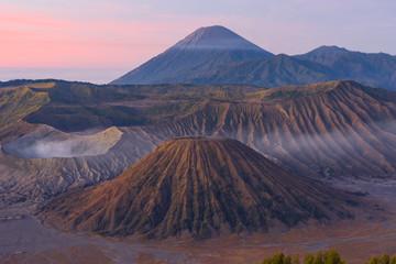 Bromo , Batok, and Semeru view