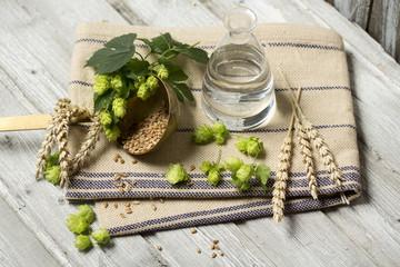 Hopfen, Wasser und Weizen - Zutaten zum Bierbrauen, Studio