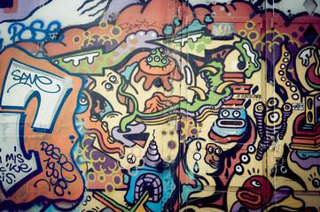 Mur de graf coloré