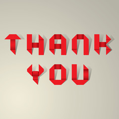 Thank You Ribbon Lettering Vector