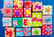 canvas print picture - Bunte Geschenke auf Blau
