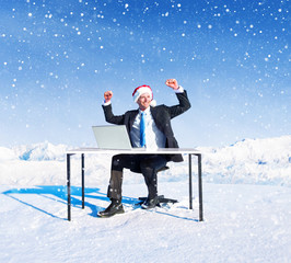 Businessman Ready for Christmas