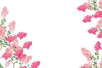 ピンクのサルスベリの花のグリーティングカード