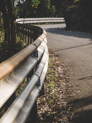 Guardrail and curve