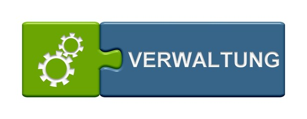 Puzzle Button grün blau: Verwaltung