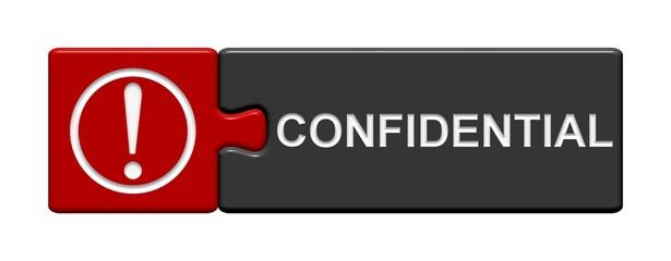 Puzzle Button rot grau: Confidential
