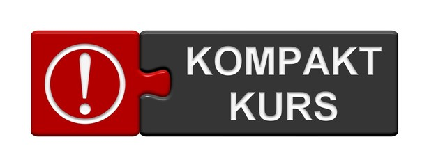 Puzzle Button grau rot: Kompaktkurs