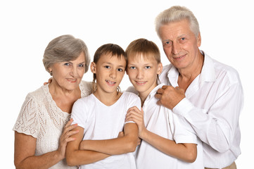 Grandsons with grandparents