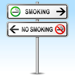 smoking and no smoking sign