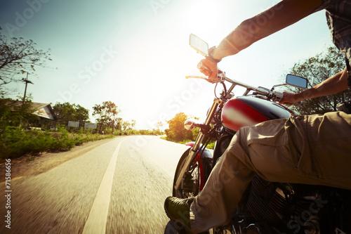 Leinwandbild Motiv Biker