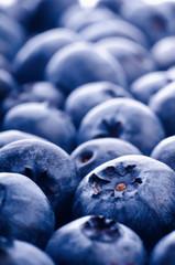 Fresh ripe blueberries close up
