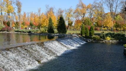 The waterfall in Mezhigirya of ex-president Yanukovich
