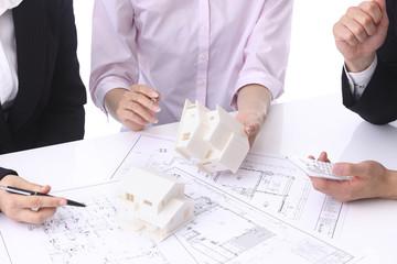住宅設計の打合せ