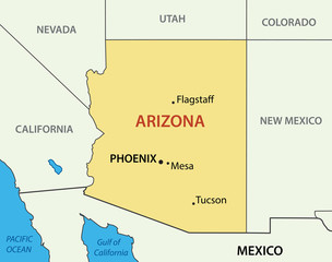 Arizona - vector map