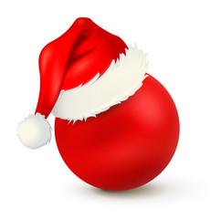 Weihnachtskugel Nikolaus-Mütze