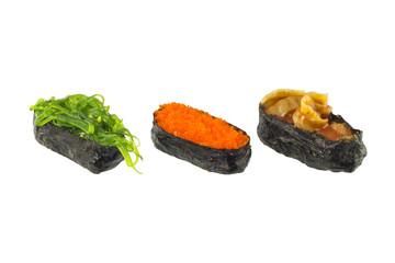 Sushi on white background, Japanese Food