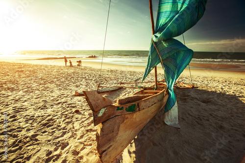 Foto op Plexiglas Water Boat