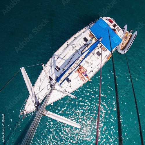 Papiers peints Fluvial Yacht