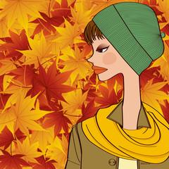 fall and girl