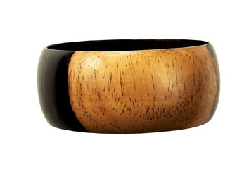 beautiful handmade wooden Bracelet on a white background