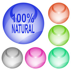 100% natural. Vector interface element.