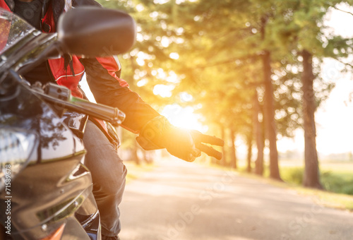 canvas print picture motorbike greeting