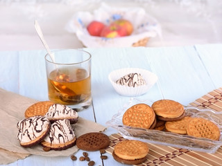 .biscuits with tea and sweets