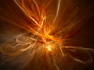 Orange glowing plasma flame