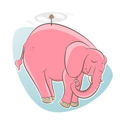 elefant fliegen propeller flugzeug