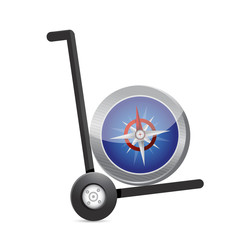 compass on a dolly. illustration design