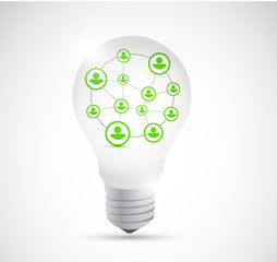 light bulb and people network connection