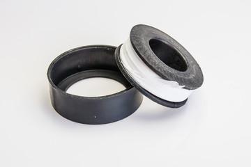 Teflon Tape isolate on white.