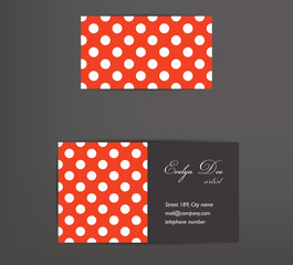 Business card design. Dotted concept. Vector.